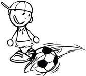 Chlapec hraje fotbal
