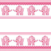 Scalable vectorial image representing a girl baby elephant isolated on white
