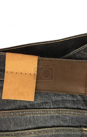 Denim jean blank tag and label