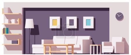 Illustration for Vector low poly living room - Royalty Free Image