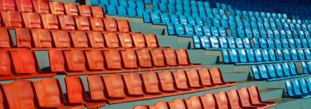 football stands on stadium