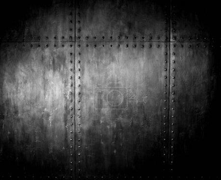 acier rouillé élimé, couvrant avec rivet, fond de fer