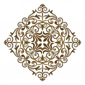 Abstract traditional pattern with oriental elements