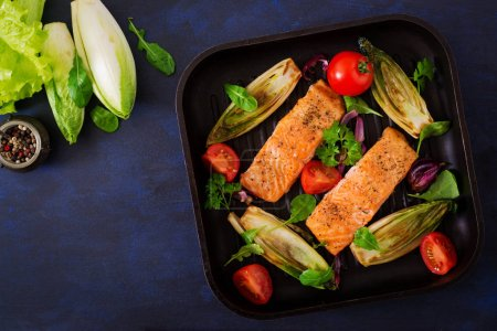 Baked salmon with Italian herbs