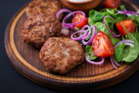 Appetizing meat cutlets