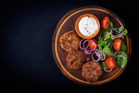 Appetizing meat cutlets