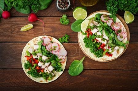 Healthy mexican corn tacos