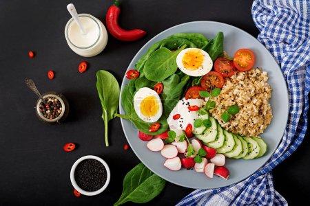 Healthy salad of fresh vegetables