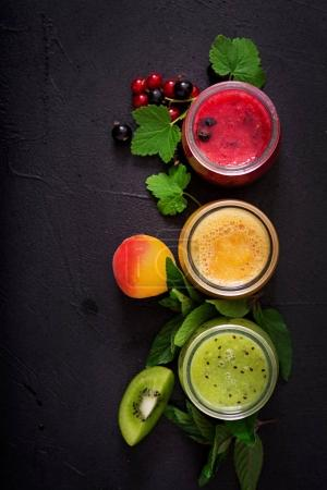 smoothies from different berries