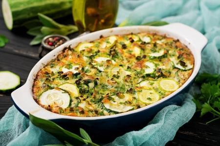 Tasty zucchini casserole