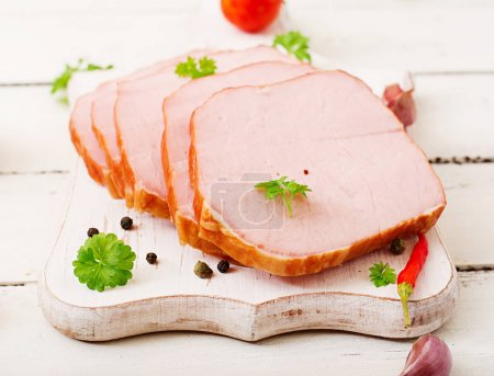 Slices of fresh ham