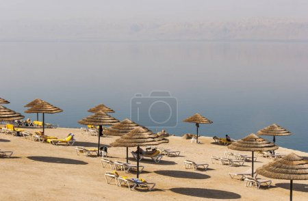 Beach on the Dead sea, one of the worlds saltiest lake