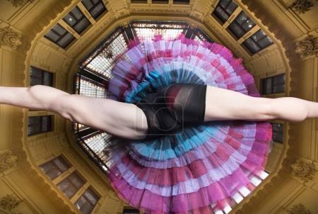 Ballerina performer in the city