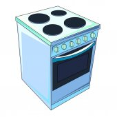 The vector illustration  of the sale electric stove