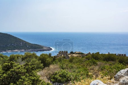 Palaiokastro castle of ancient Pylos. Greece