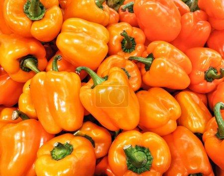 Foto de Naranja madura dulce búlgaro pimientos para ensalada - Imagen libre de derechos