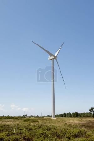 Foto de Cerca de una granja de energía eólica en meridional Europa Portugal producción de energía renovable para hacer del planeta un lugar más verde - Imagen libre de derechos