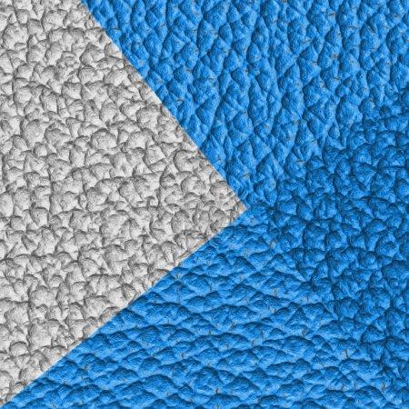 Photo pour Cuir blanc et bleu texture gros plan. Utile pour le contexte - image libre de droit