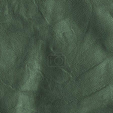Photo pour Fragment d'un morceau de vieux cuir vert. Utile pour le contexte - image libre de droit