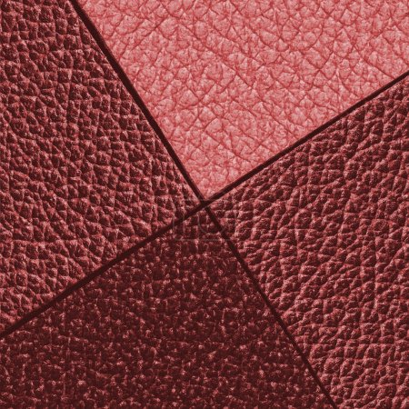 leather background of shades of red
