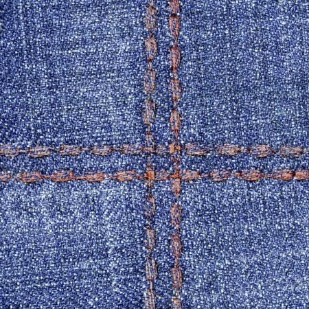 blue denim background decorated with seams