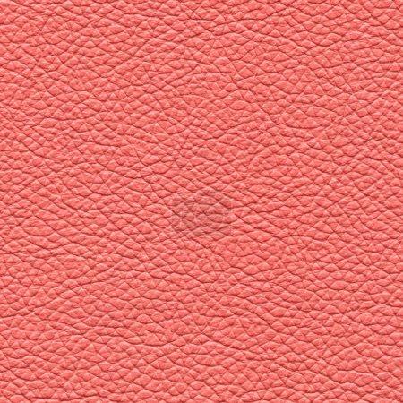 Photo pour Cuir rouge texture gros plan comme fond pour la conception-travaux - image libre de droit