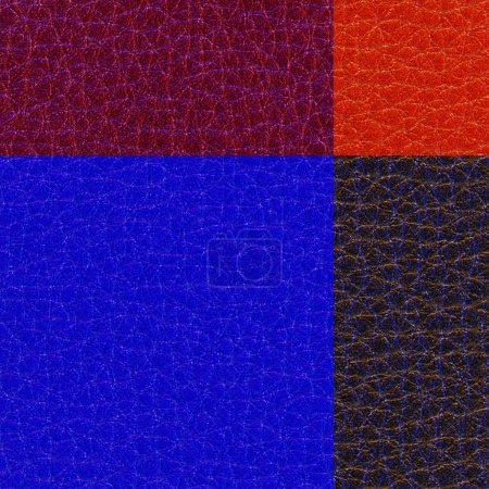 artificial leather background of four different colors