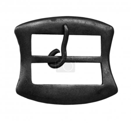 old steel  buckle isolated on white