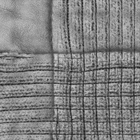 gray background of leather and textile textures