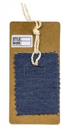 cardboard tag with a tissue sample