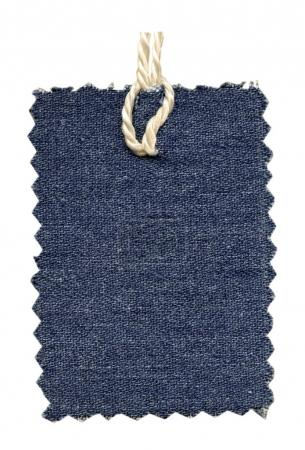 denim tag isolated