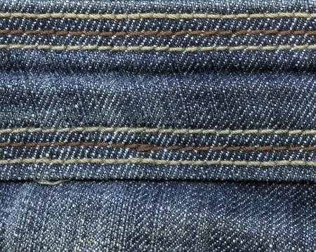 Photo for Fragment of blue denim jacket as background - Royalty Free Image