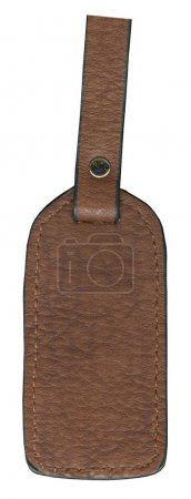 blank brown leather trinket isolated on white background