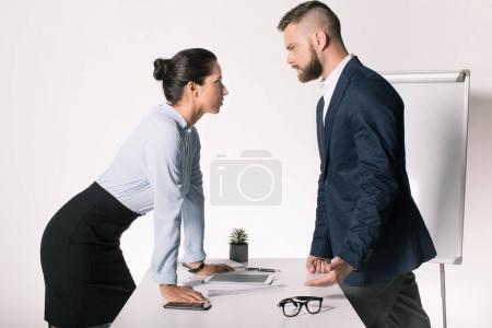business people having disagreement