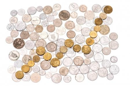 arranged various coins