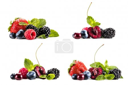 piles of various berries