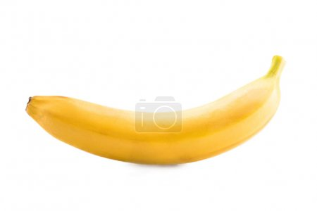 Photo for Close up view of fresh and ripe banana isolated on white - Royalty Free Image