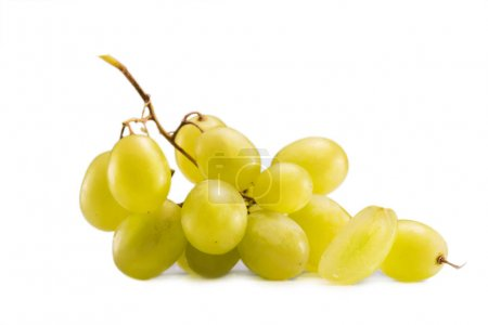 Photo for Close up view of cluster of fresh grapes isolated on white - Royalty Free Image
