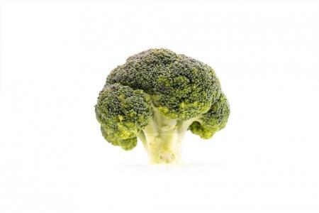 Photo for Healthy ripe broccoli branch isolated on white - Royalty Free Image