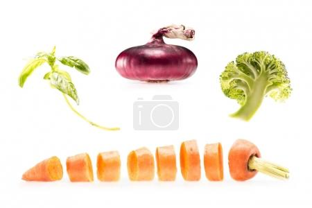 collage of various fresh vegetables