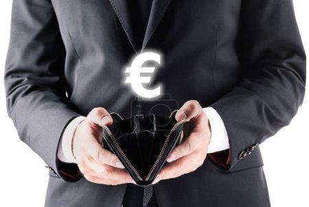 Businessman holding wallet