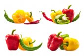 collection of chili and bell peppers