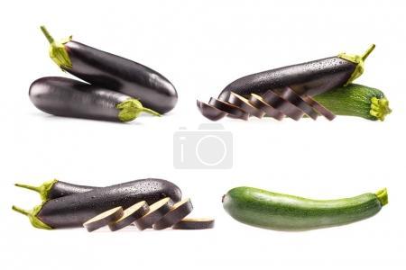 fresh zucchini and eggplants