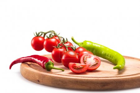 Chili peppers and tomatoes