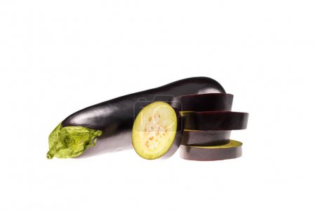 raw sliced eggplants