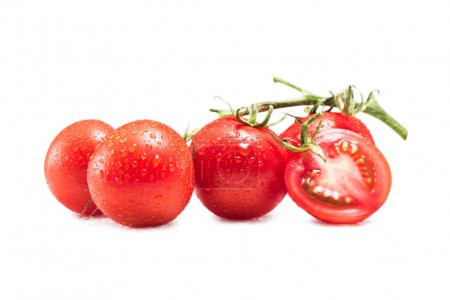Photo for Ripe raw red tomatoes isolated on white - Royalty Free Image