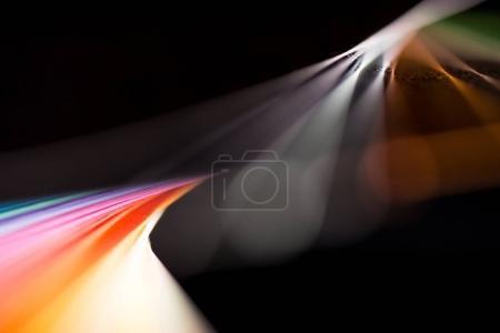 Foto de Composición de papeles coloridos aislados en negro - Imagen libre de derechos