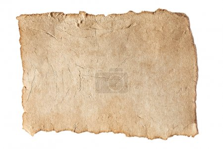 Photo for Blank aged brown paper texture isolated on white - Royalty Free Image
