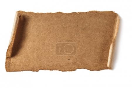 Photo for Blank paper sheet texture isolated on white - Royalty Free Image
