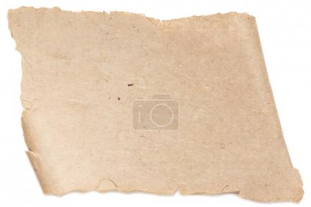 Photo for Blank dirty paper texture isolated on white - Royalty Free Image